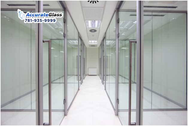 Glass And One Of Its Several Types: Frosted Door Glass And Frameless Commercial Glass Door
