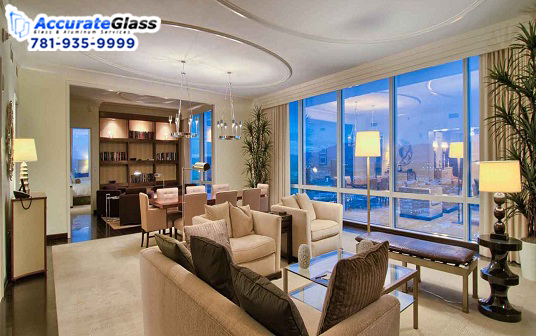 Residential glass door